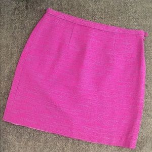 Pink and purple twill skirt